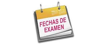 Calendario exámenes  convocatoria Diciembre2020